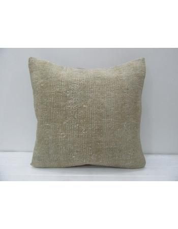 Handmade Vintage Beige Pillow