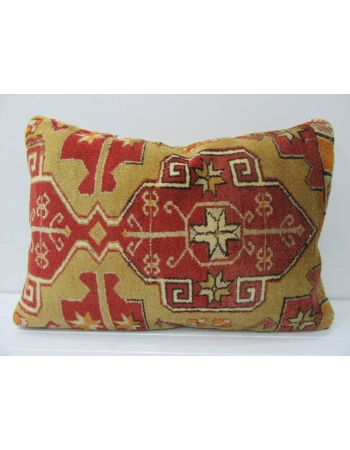 Antique Green & Red Large Pillow