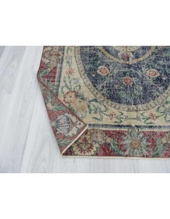 Distressed unique Turkish Oushak rug