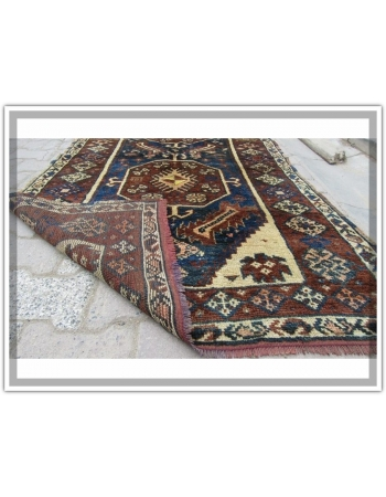Antique Decorative Kurdish Carpet