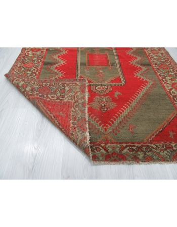 Antique Red Brown Persian Malayer Rug