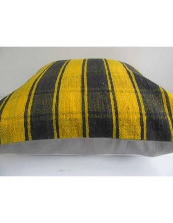Black & Yellow vintage Turkish kilim pillow